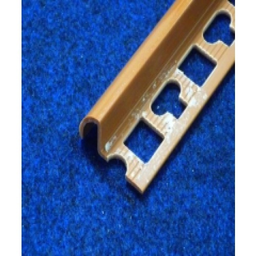 PPS คิ้วกระเบื้องโปรพลาส   ขนาด (30x11x9.5mm).  PTG-802068 สีน้ำตาลอิฐ  สีน้ำตาล