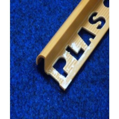 คิ้วกระเบื้องโปรพลาส สีน้ำตาลศิลา PTG-802069 (30x11x9.5mm).PPS  น้ำตาล