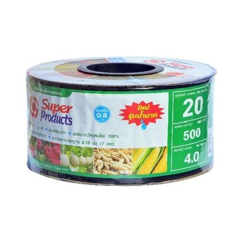 Super Products เทปจ่ายน้ำขนาด 16 มม. 4 ลิตร/ชม./20ซม./500หลา