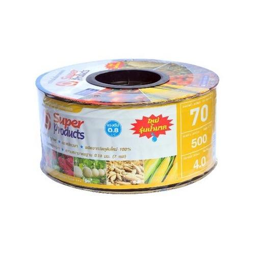 Super Products เทปจ่ายน้ำขนาด 16 มม. 4 ลิตร/ชม./70ซม./500หลา Super Products  เหลือง