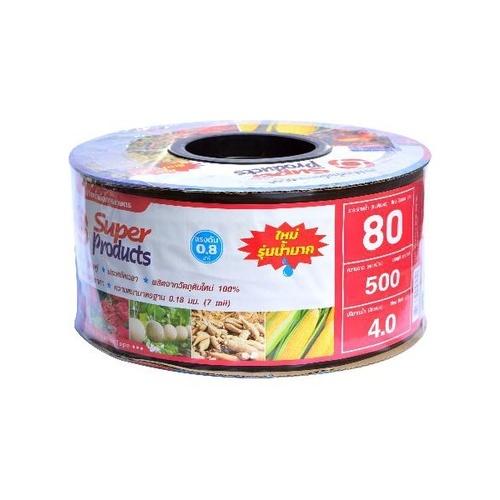 Super Products เทปจ่ายน้ำขนาด 16 มม. 4 ลิตร/ชม./80ซม./500หลา Super Products  แดง