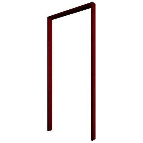 WINDOOR วงกบประตูไม้เรดวูด ขนาด 80x180ซม. ทำสี Com 1