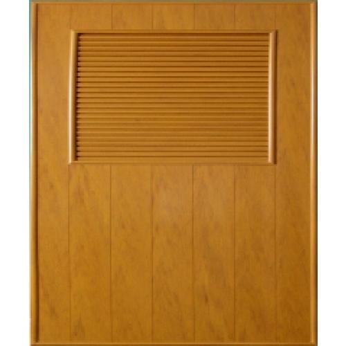 CHAMP ประตูพีวีซี เกล็ดครึ่งบานบน ขนาด 70x188cm.   P3 สีไม้ลายสักทอง เจาะ