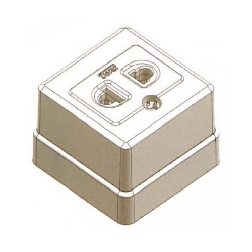 - เต้ารับลอยสี่เหลี่ยม SR-1621 (PM-010) AMATA  ขาว