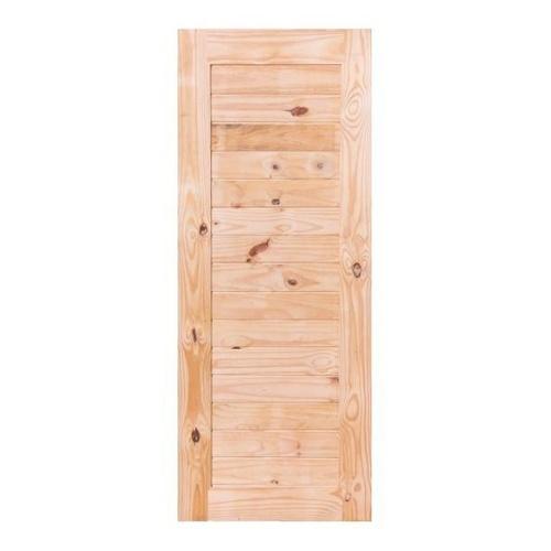 BEST ประตูไม้สน บานทึบทำร่อง  ขนาด 80x180ซม. GS-52s
