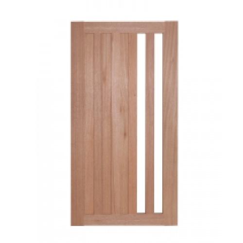 BEST ประตูไม้สยาแดง กระจกใส ขนาด 50x200 cm. GS-47
