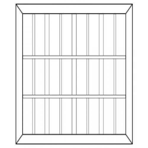 BEST ประตูไม้สยาแดง กรอปกระจก ขนาด 200x200 cm. -