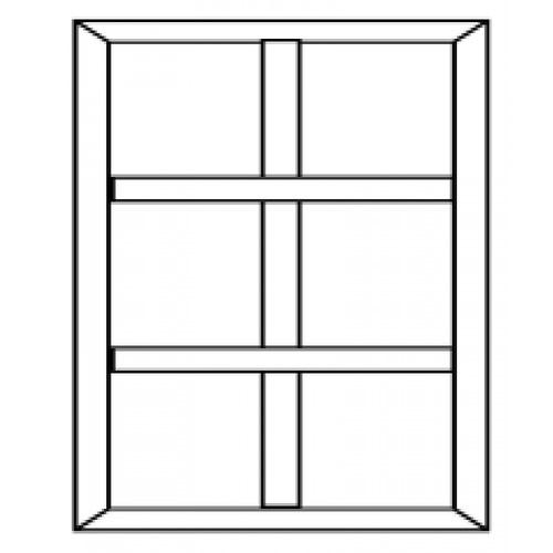 BEST ประตูสยาแดง กรอบกระจก ขนาด 50x200cm. -