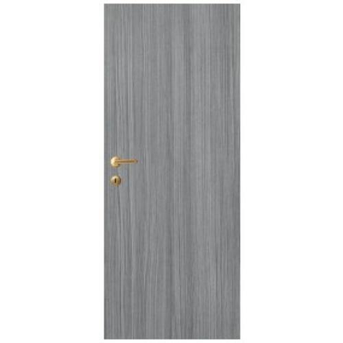 LEOWOOD ประตู UPVC บานเรียบลายไม้  ขนาด 35x800x2000มม.สี Dark Grey  iDoor Aqua สีดำ