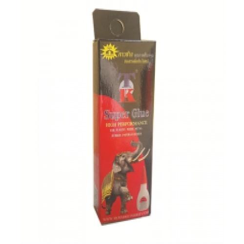 กาวช้างทีเคซุปเปอร์กลู (กล่องแดง)  ใส