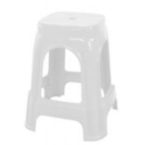 GOME เก้าอี้พลาสติก 4ขา ZH009-WH สีขาว