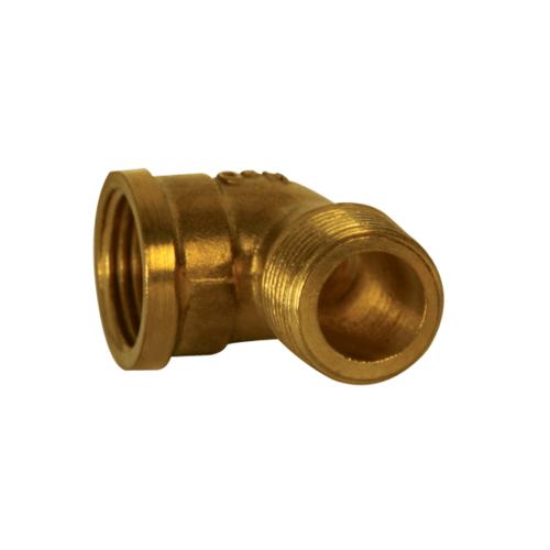 HOEN ข้องอ90เกลียวนอก-ในทองเหลือง H-001 สีโครเมี่ยม