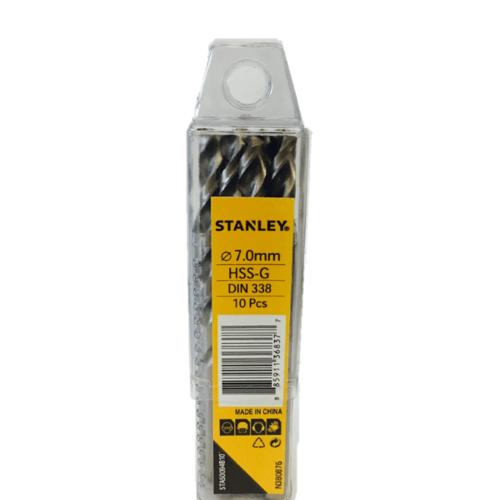 STANLEY ดอกเจาะเหล็ก 7 มม. แพ็ค 10 STA50094B10 สีโครเมี่ยม