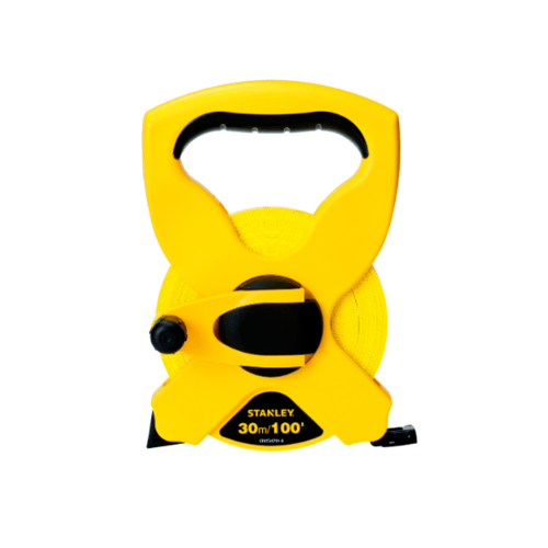 STANLEY เทปวัดไฟเบอร์กลาส 30ม/100ฟุต แบบม้วนเปลือย   STHT34791-8 สีเหลือง