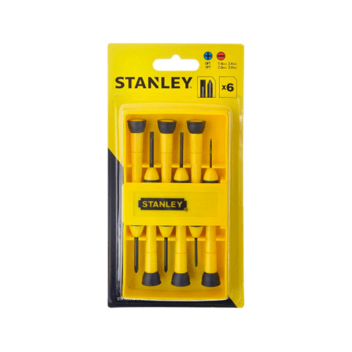 STANLEY ชุดไขควงซ่อมนาฬิกา STHT66052-8 STANLEY  STHT66052-8  สีเหลือง