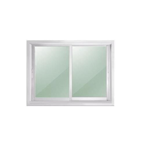 - หน้าต่างอะลูมิเนียมบานเลื่อน ขนาด 100cm.x100cm.  SS (CS)  สีขาว