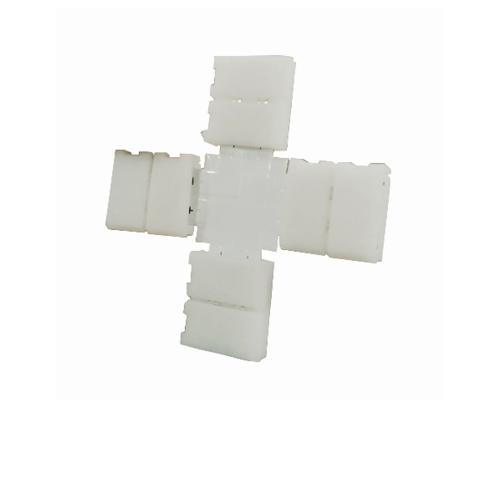 GATA คอนเนคเตอร์สำหรับไฟเส้น LED 8mm. ทรงกากบาท (แพ็ค2) - สีขาว