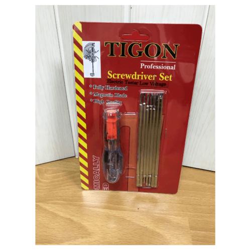 TIGON ไขควงลองไฟ 7 ตัวชุดNo.7000 โซโล TIGON