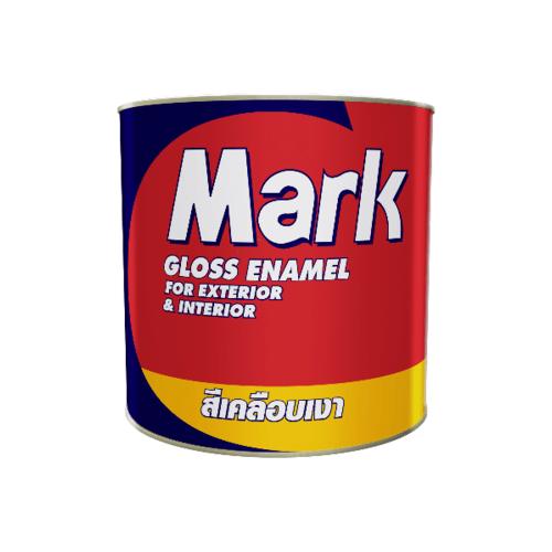 CAPTAIN สีน้ำมัน  1/4กล. MARK 820 สีแดง