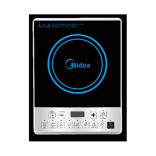 Midea เตาแม่เหล็กไฟฟ้า 2100 วัตต์ ระบบปุ่มกด 6 ฟังค์ชั่น แถมหม้อสเตนเลส MI-WT2100 สีดำ