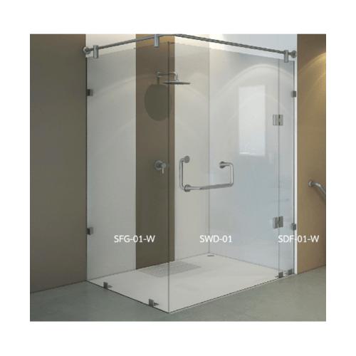 WS ฉากกั้นอาบน้ำแบบบานสวิงพร้อมบานฟิกซ์ ขนาด 120x120  SWD-01/120x120 WS.