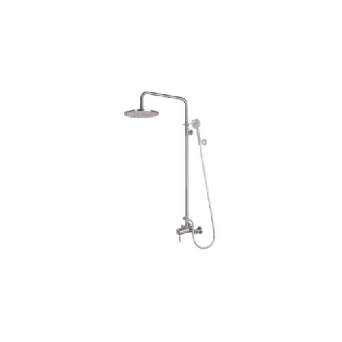 WS ชุดฝักบัวอาบน้ำ Rain shower ผสมแบบสายอ่อน พร้อมตัวปรับทางน้ำ คอ L  WS-8081L