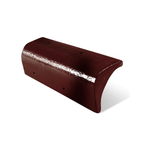 ตราเพชร ครอบปิดชาย กระเบื้อง CT Gran Onda  สีแดงประกายตะวัน