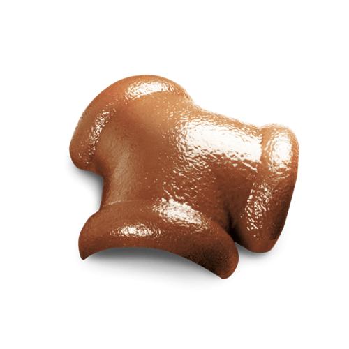 ตราเพชร ครอบสันโค้ง 3 ทาง CTเพชร รุ่น แกรนออนด้า ขนาด 42x36 ซม. สีส้มวรารักษ์