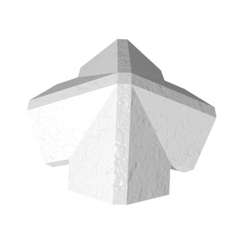 ตราเพชร ครอบ 4 ทาง 45 องศา กระเบื้องเจียระไน ขนาด 21x40 ซม. สีขาวไข่มุก