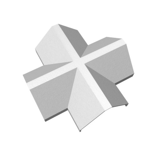 ตราเพชร ครอบ 4ทาง จตุรมุข กระเบื้องเจียระไน ขนาด 52x52 ซม. สีขาวไข่มุก