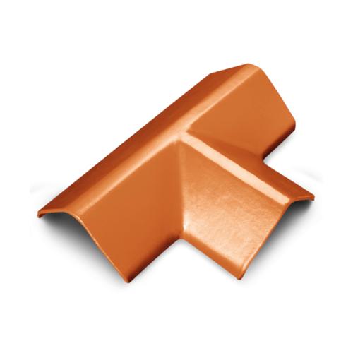 ตราเพชร ครอบ 3 ทางตัว T กระเบื้องเจียระไน ขนาด 21x45 ซม. สีอิฐอำพัน