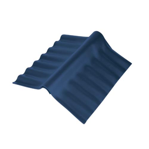 ตราเพชร ครอบปรับมุม ตัวบน กระเบื้องลอนคู่ ขนาด 55x33 ซม. สีฟ้าศุภโชค