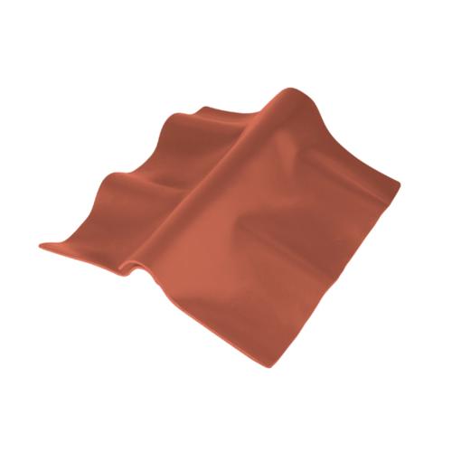 ตราเพชร ครอบปรับมุมตัวบน กระเบื้องลอนคู่ ขนาด 55x33 ซม. สีส้มทองมังกร