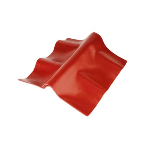 ตราเพชร ครอบปรับมุมตัวล่าง กระเบื้องลอนคู่ ขนาด 55x30 ซม. สีแดงมั่งมี