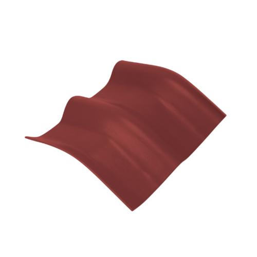 ตราเพชร ครอบมุมองศา 15 องศา กระเบื้องลอนคู่ ขนาด 48x40.5 ซม. สีแดงมั่งมี