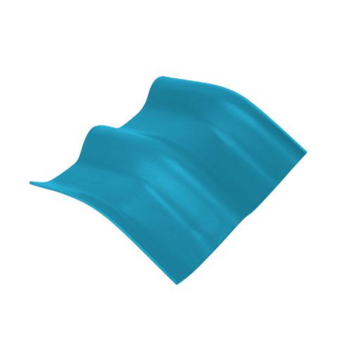 ตราเพชร ครอบมุมองศา 15 องศา กระเบื้องลอนคู่ ขนาด 48x40.5 ซม. สีฟ้าร่มรื่น