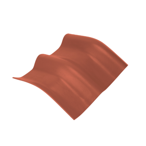 ตราเพชร ครอบมุมองศา 20 องศา กระเบื้องลอนคู่ ขนาด 48x39.5 ซม. สีส้มทองมังกร