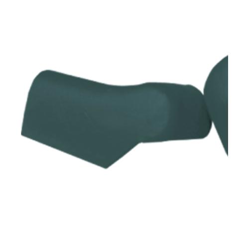 ตราเพชร ครอบปิดจั่วปรับมุม ตัวล่าง กระเบื้องลอนคู่ ขนาด 19.5x34 ซม. สีเขียวสดชื่น