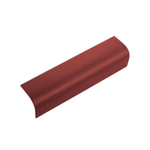 ตราเพชร ครอบข้าง กระเบื้องลอนคู่ ขนาด 19.5x60 ซม. สีแดงมั่งมี