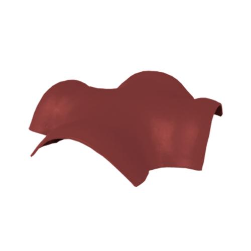 ตราเพชร ครอบสันโค้ง 4 ทาง จตุรมุข กระเบื้องลอนคู่ ขนาด 52x52 ซม. สีแดงมั่งมี