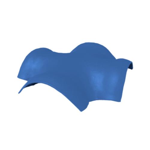 ตราเพชร ครอบสันโค้ง 4 ทาง จตุรมุข กระเบื้องลอนคู่ ขนาด 52x52 ซม. สีฟ้ารุ่งโรจน์