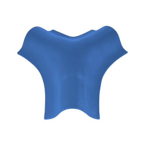 ตราเพชร ครอบสันโค้ง 3 ทาง ตัว Y กระเบื้องลอนคู่ ขนาด 44x40.5 ซม. สีฟ้ารุ่งโรจน์