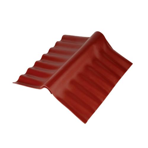 ตราเพชร ครอบปรับมุม ตัวบน กระเบื้องลอนเล็ก ขนาด 54x32.5 ซม. สีแดงมั่งมี