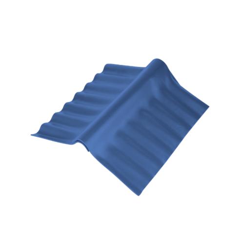 ตราเพชร ครอบปรับมุม ตัวล่าง กระเบื้องลอนเล็ก ขนาด 54x30.5 ซม. สีฟ้ารุ่งโรจน์