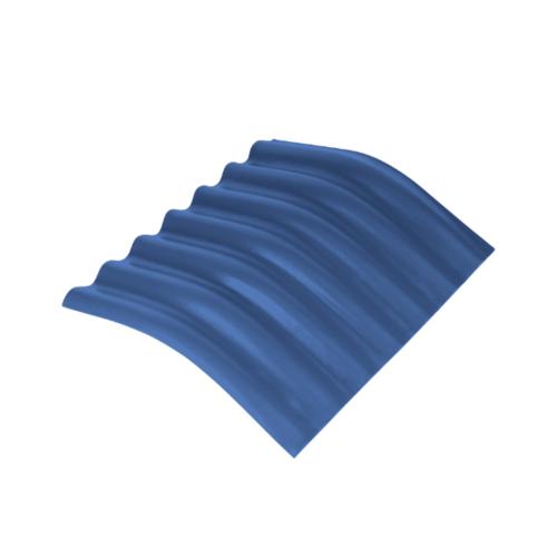 ตราเพชร ครอบมุม 20 องศา กระเบื้องลอนเล็ก ขนาด 54x45 ซม. สีฟ้ารุ่งโรจน์
