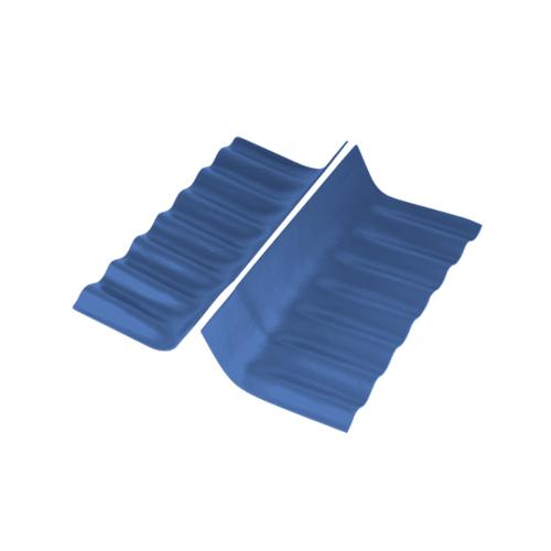 ตราเพชร ครอบสันตะเข้ ตัวบน กระเบื้องลอนเล็ก ขนาด 76x20 ซม. สีฟ้ารุ่งโรจน์