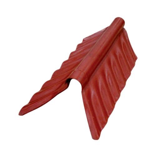 ตราเพชร ครอบสันตะเข้ ตัวล่าง กระเบื้องลอนเล็ก ขนาด 76x20 ซม. สีแดงมั่งมี