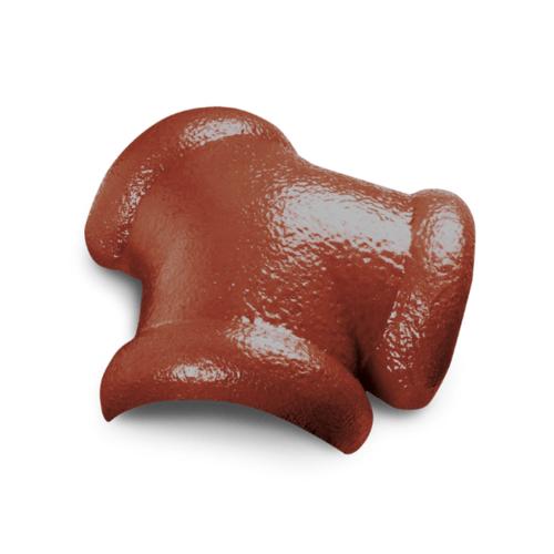 ตราเพชร ครอบสันโค้ง 3 ทาง CTเพชร รุ่น แกรนออนด้า ขนาด 42x36 ซม. สีส้มคาซ่า