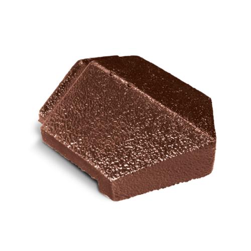 ตราเพชร ครอบปิดปลายสันตะเข้ กระเบื้องอดามัส ขนาด 21.5x27 ซม. สีน้ำตาลมะฮอกกานี