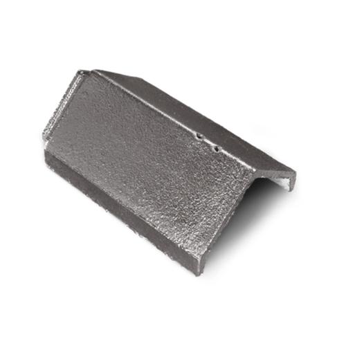 ตราเพชร ครอบสันหลังคา กระเบื้องอดามัส ขนาด 25x35.7 ซม. สีเทาไอหมอก